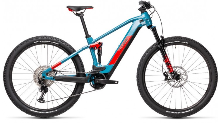 CUBE STEREO HYBRID 120 RACE 625 BLUE/RED 2021
